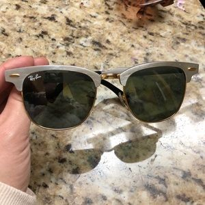 Silver ray bans; comes with case